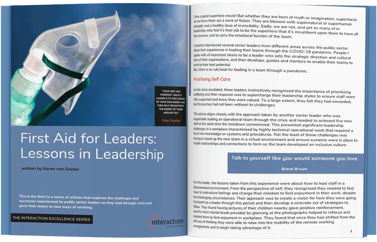 First Aid for Leaders - Article
