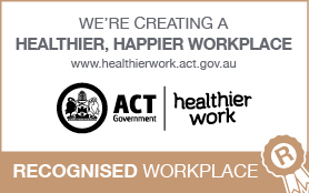 ACT Government Healthier Work Email Signatures - Recognised